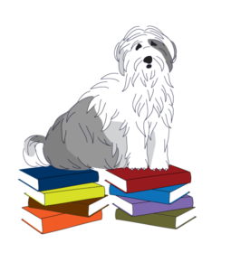 Dog on Pile of Books