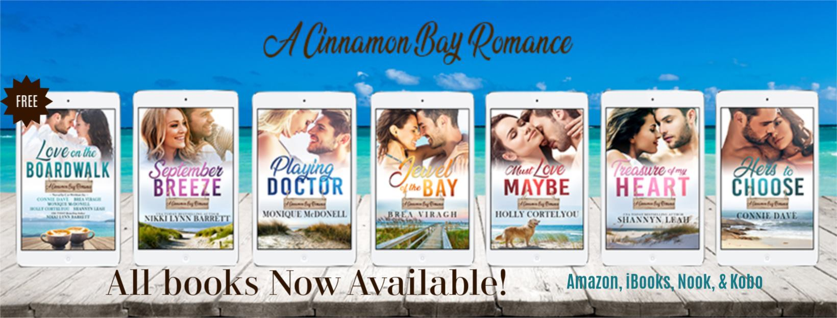 Cinnamon Bay Romance All Books Banner