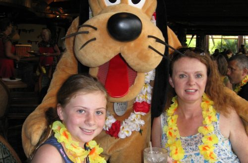 My daghter, Goofy and I